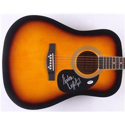 "Gordon Lightfoot Signed 41"" Acoustic Guitar (PSA COA)"