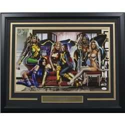"Greg Horn Signed ""The Women of X-Men"" 20x26 Custom Framed Lithograph Display (JSA COA)"