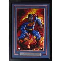 "Greg Horn Signed ""Superman"" 17x25 Custom Framed Lithograph Display (JSA COA)"