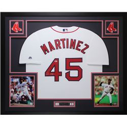 Pedro Martinez Signed Red Sox 35x43 Custom Framed Jersey Display (Beckett COA)
