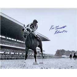 "Ron Turcotte Signed 16x20 Photo Inscribed ""Belmont 73"" (Beckett COA)"
