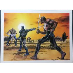 "Neal Adams Signed ""Batman vs. Ra's Al Ghul"" 18x24 Giclee (PA LOA)"