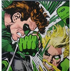 "Neal Adams Signed ""Green Lantern vs. Green Arrow"" 20x20 Giclee (PA LOA)"