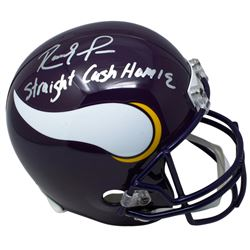 "Randy Moss Signed Minnesota Vikings Full-Size Helmet Inscribed ""Straight Cash Homie"" (JSA COA)"