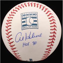 "Al Kaline Signed Hall of Fame Logo OML Baseball Inscribed ""HOF 80"" (JSA COA)"