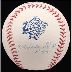 """Bernie Williams Signed 1999 World Series Baseball Inscribed """"SDG"""" (Steiner COA  MLB Hologram)"""