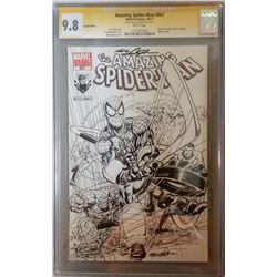 """Neal Adams Signed 2011 """"The Amazing Spider-Man"""" Issue #667 Montreal Comicon Variant Marvel Comic Boo"""