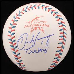 "Carlos Martinez Signed 2017 All-Star Logo Baseball Inscribed ""Tsunami"" (JSA COA)"
