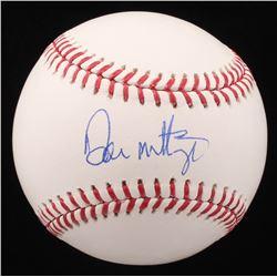 Don Mattingly Signed OML Baseball (JSA COA)