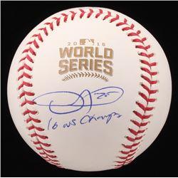 "Dexter Fowler Signed 2016 World Series Logo Baseball Inscribed ""16 WS Champs"" (JSA COA)"