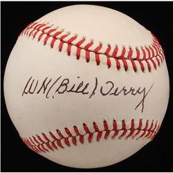 Bill Terry Signed ONL Baseball (JSA LOA)