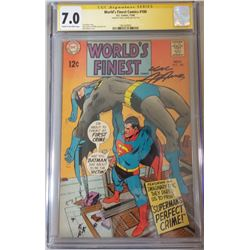 """Neal Adams Signed 1968 """"World's Finest"""" Issue #180 DC Comic Book (CGC Encapsulated - 7.0)"""