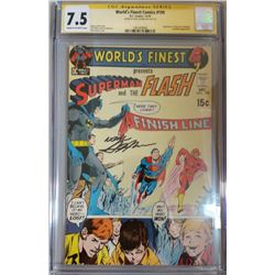 """Neal Adams Signed 1970 """"World's Finest"""" Issue #199 DC Comic Book (CGC Encapsulated - 7.5)"""
