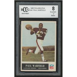 1965 Philadelphia #41 Paul Warfield RC (BCCG 8)