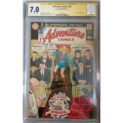 "Neal Adams Signed 1969 ""Adventure Comics"" Issue #383 DC Comic Book (CGC Encapsulated - 7.0)"