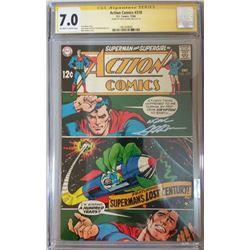 "Neal Adams Signed 1968 ""Adventure Comics"" Issue #370 DC Comic Book (CGC Encapsulated - 7.0)"