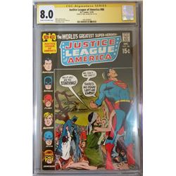 """Neal Adams Signed 1970 """"Justice League of America"""" Issue #86 DC Comic Book (CGC Encapsulated - 8.0)"""