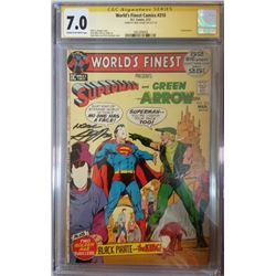 """Neal Adams Signed 1972 """"World's Finest"""" Issue #210 DC Comic Book (CGC Encapsulated - 7.0)"""
