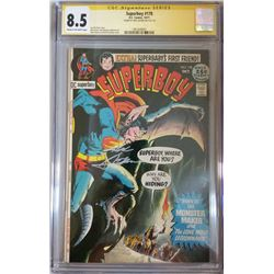 """Neal Adams Signed 1971 """"Superboy"""" Issue #178 DC Comic Book (CGC Encapsulated - 8.5)"""