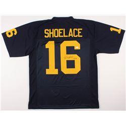 "Denard Robinson Signed ""Shoelace"" Michigan Wolverines Jersey (JSA COA)"