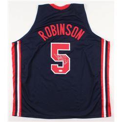 David Robinson Signed Team USA Jersey with Inscription (JSA COA)