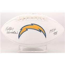 "Kellen Winslow Signed San Diego Chargers Logo Football Inscribed ""HOF 95"" (JSA COA)"