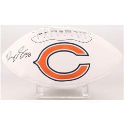 Roquan Smith Signed Chicago Bears Logo Football (Beckett COA)