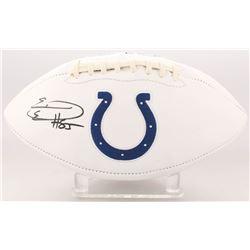 Eric Ebron Signed Indianapolis Colts Logo Football (JSA COA)