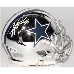 Leighton Vander Esch Signed Dallas Cowboys Chrome Speed Mini-Helmet (Beckett COA)