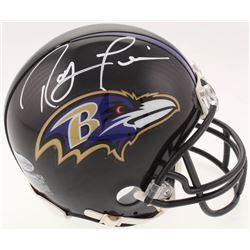Ray Lewis Signed Baltimore Ravens Mini-Helmet (Beckett COA)