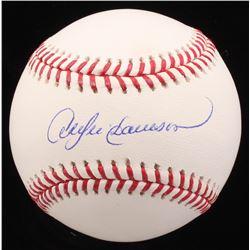 Andre Dawson Signed OML Baseball (MAB Hologram)