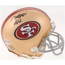 Matt Breida Signed San Francisco 49ers Mini-Helmet (Beckett COA)