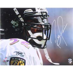 Ray Lewis Signed Baltimore Ravens 16x20 Photo (Beckett COA)