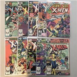 "Lot of (10) 1975-1982 Marvel ""Uncanny X-Men"" 1st Series Comic Books with #146, #147, #151-154, GS #2"