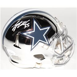 Leighton Vander Esch Signed Dallas Cowboys Chrome Speed Mini Helmet (JSA COA)