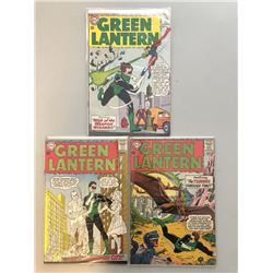 """Lot of (3) 1963-64 DC """"Green Lantern"""" 1st Series Comic Books with #25, #27, #30"""