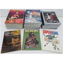 Lot of (53) Official Super Bowl I-LIII Game Programs