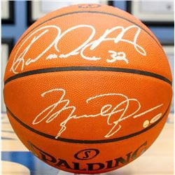 Michael Jordan, Karl Malone, Larry Bird  Magic Johnson Signed Official NBA Spalding Basketball (UDA