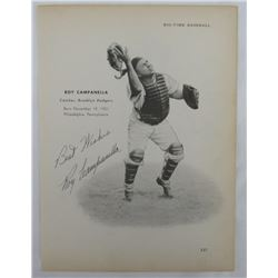 """Roy Campanella Signed Vintage Brooklyn Dodgers 8x10 Photo Inscribed """"Best Wishes"""" (PSA LOA)"""