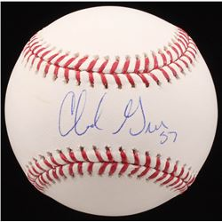 Chad Green Signed OML Baseball (MAB Hologram)