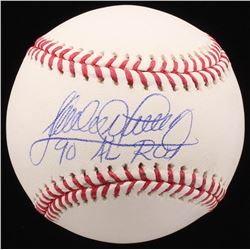 "Sandy Alomar Jr. Signed OML Baseball Inscribed ""90 AL ROY"" (MAB Hologram)"