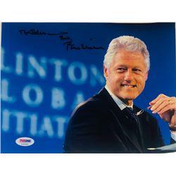 """Bill Clinton Signed 8x10 Photo Inscribed """"Thanks"""" (PSA LOA)"""