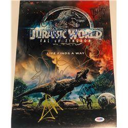 """Jurassic World: Fallen Kingdom"" 11x17 Photo Cast-Signed by (9) with Jeff Goldblum, Chris Pratt, Jam"