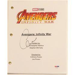 """Chris Evans Signed """"Avengers: Infinity War"""" Movie Script (PSA COA)"""