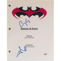 "George Clooney  Chris O'Donnell Signed ""Batman  Robin"" Movie Script (PSA COA)"
