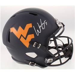 Will Grier Signed West Virginia Mountaineers Full-Size Custom Matte Black Speed Helmet (JSA COA)