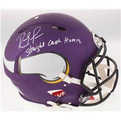 Randy Moss Signed Minnesota Vikings Full-Size Custom Matte Purple Authentic On-Field Speed Helmet In