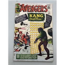 """1964 """"The Avengers"""" First Series Issue #8 Marvel Comic Book"""
