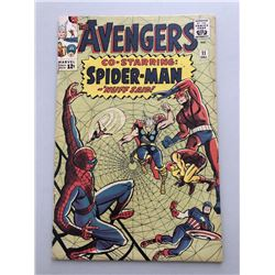 """1964 """"The Avengers"""" First Series Issue #11 Marvel Comic Book"""