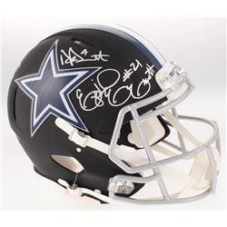 Dak Prescott, Amari Cooper  Ezekiel Elliot Signed Dallas Cowboys Full-Size Custom Matte Black Authen